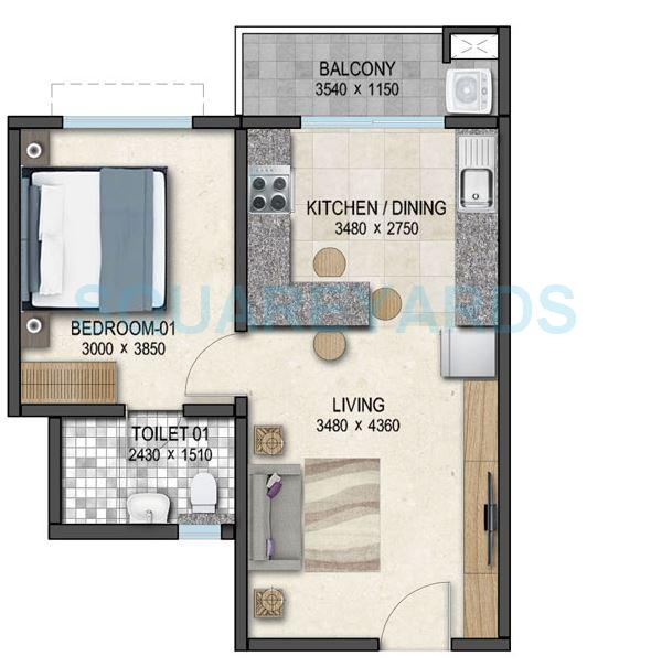 sobha dream acres apartment 1bhk 645sqft 1