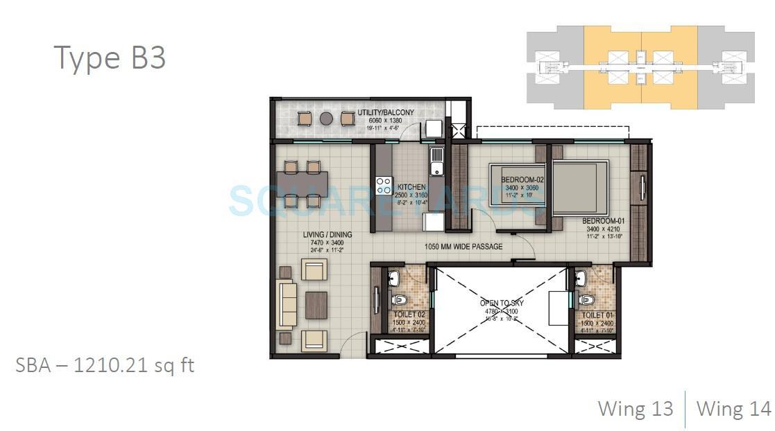 sobha dream acres apartment 2bhk 1210sqft 1