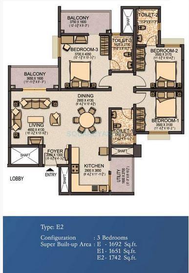 sobha elite apartment 3bhk 1742sqft1