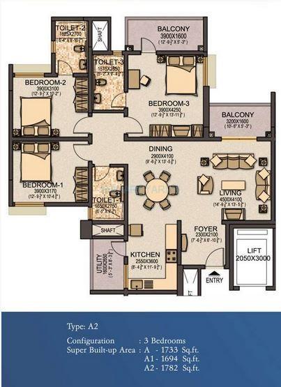 sobha elite apartment 3bhk 1782sqft1