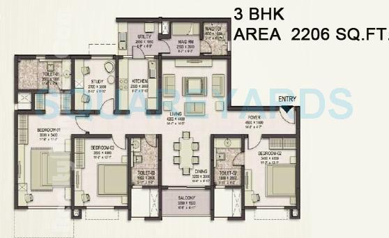 sobha eternia apartment 3bhk 2206sqft1