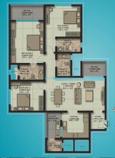 sobha habitech apartment 3bhk 1756sqft1