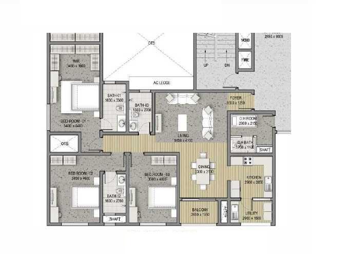sobha hrc pristine bangalore apartment 3bhk 1819sqft11