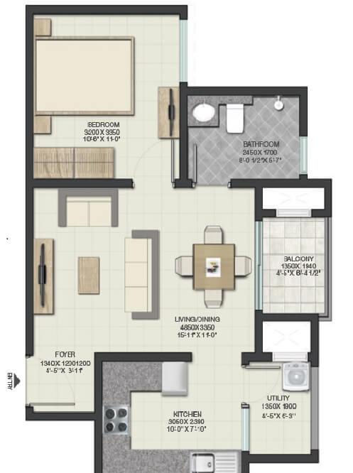 sobha lake garden apartment 1bhk 472sqft 1
