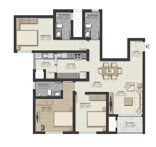 sobha palm courts apartment 2 bhk 1450sqft 20202410132409