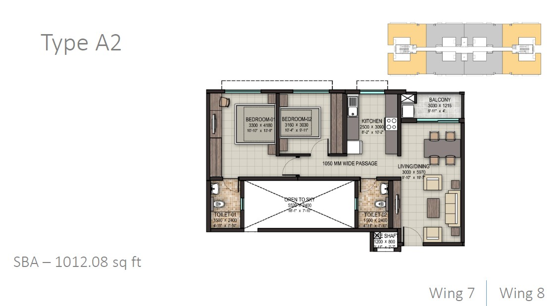 sobha rain forest apartment 2bhk 1012sqft 1