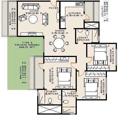 sobha rose apartment 3bhk 1595sqft31