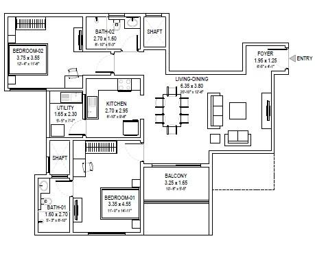 sobha royal pavilion apartment 2bhk 1302sqft 1