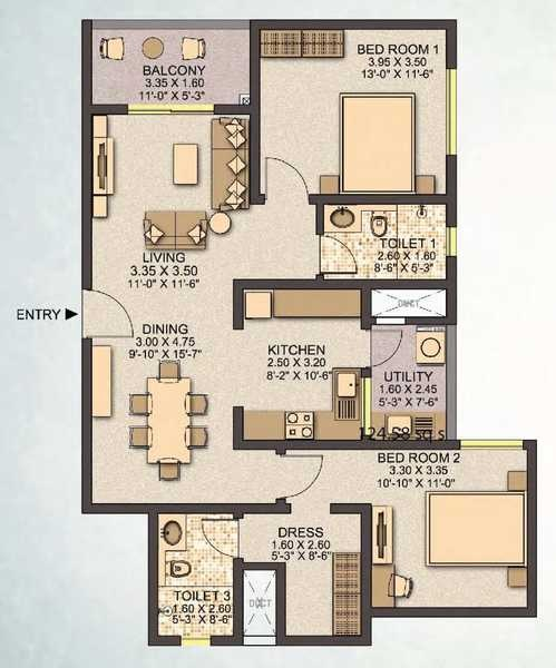 sobha santorini apartment 2bhk 1400sqft 20200702150729