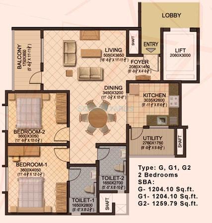sobha sobha ruby apartment 2bhk 1204sqft1