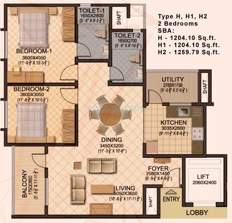 sobha sobha ruby apartment 2bhk 1260sqft1