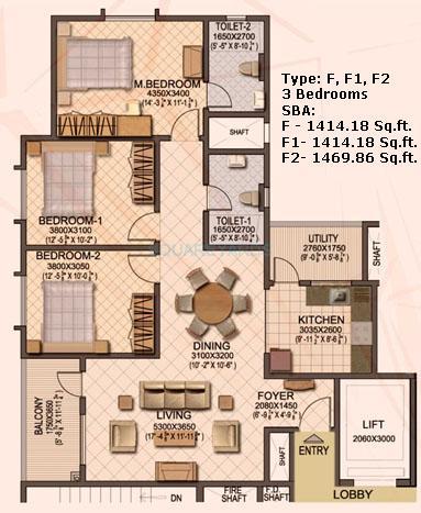 sobha sobha ruby apartment 3bhk 1414sqft1