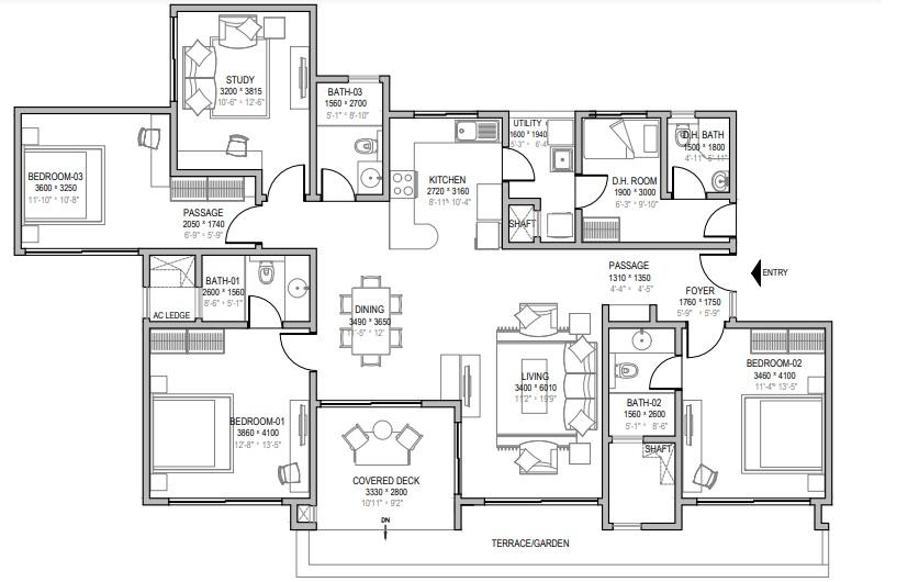 sobha windsor apartment 4 bhk 2200sqft 20212823152834