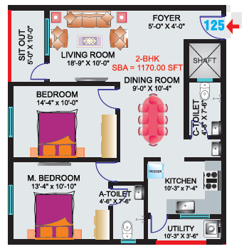 2 Bhk 1200 Sq Ft Apartment For Sale In Sri Mitra Symphony At Rs