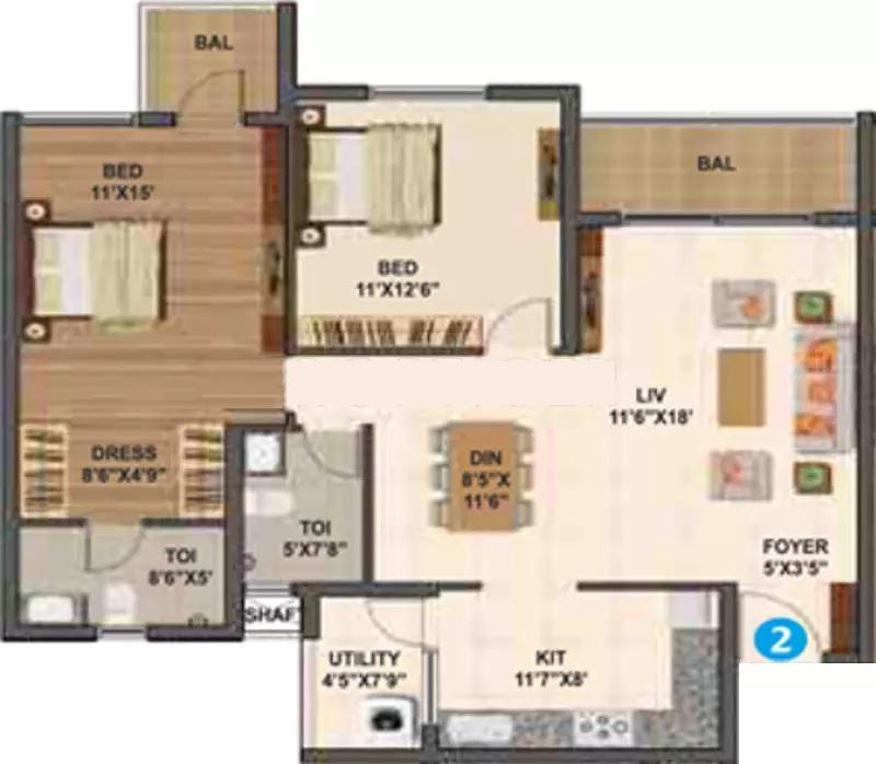 sumadhura madhuram apartment 2bhk 1315sqft71