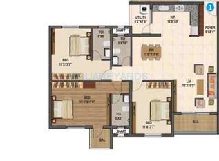 sumadhura madhuram apartment 3bhk 1810sqft1