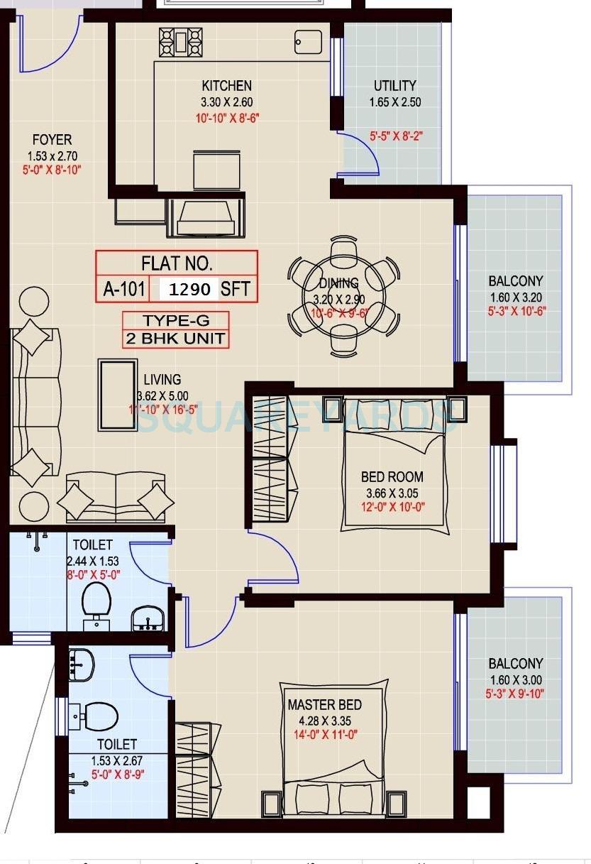 sumadhura shikharam apartment 2bhk 1290sqft1