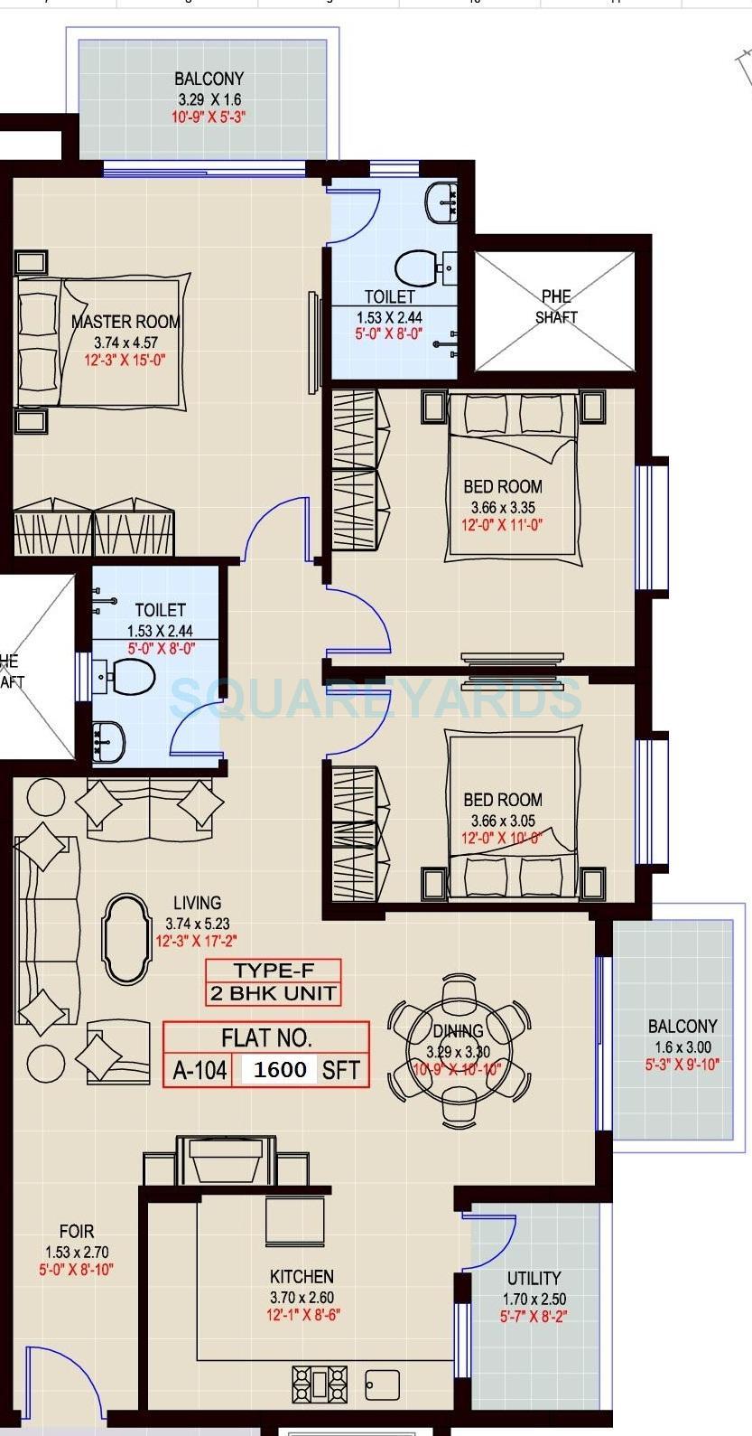 sumadhura shikharam apartment 2bhk 1600sqft1