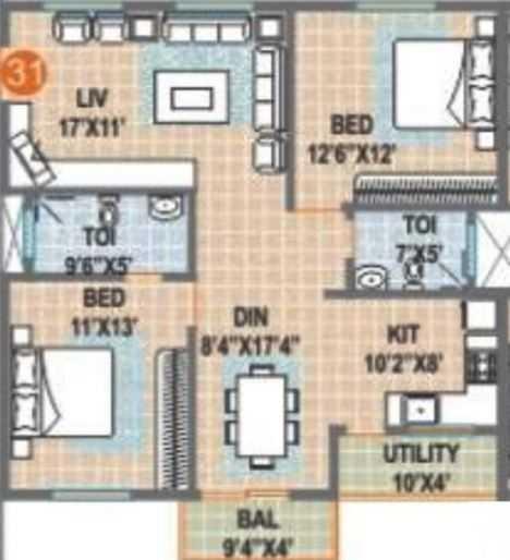 sumadhuras srinivasam apartment 2 bhk 1280sqft 20204509084555