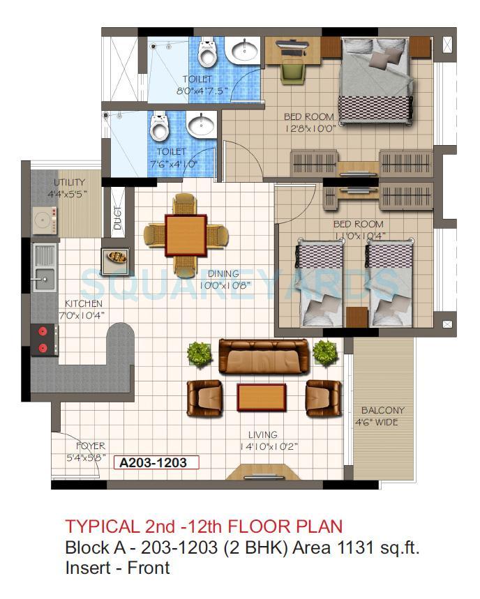 supertech micasa apartment 2bhk 1131sqft1