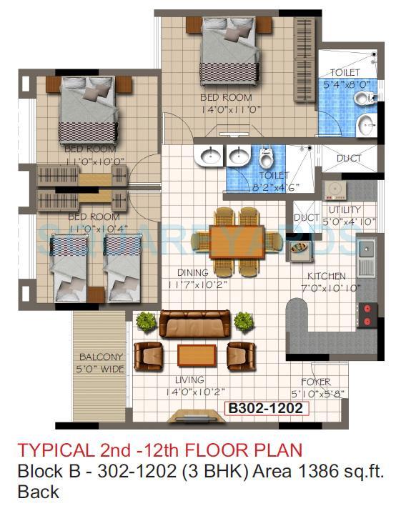 supertech micasa apartment 3bhk 1386sqft1