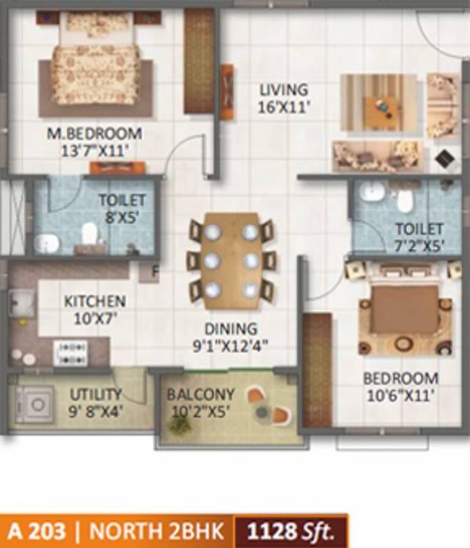 sv legacy apartment 2bhk 1128sqft171