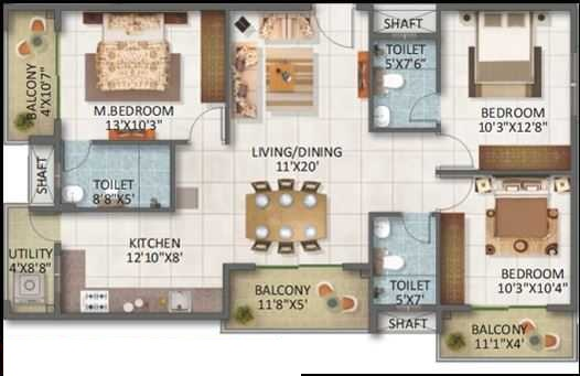 sv legacy apartment 3bhk 1460sqft171