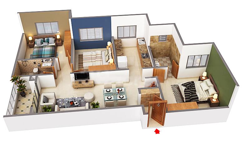 svamitva emerald square  apartment 3 bhk 1481sqft 20205623175617