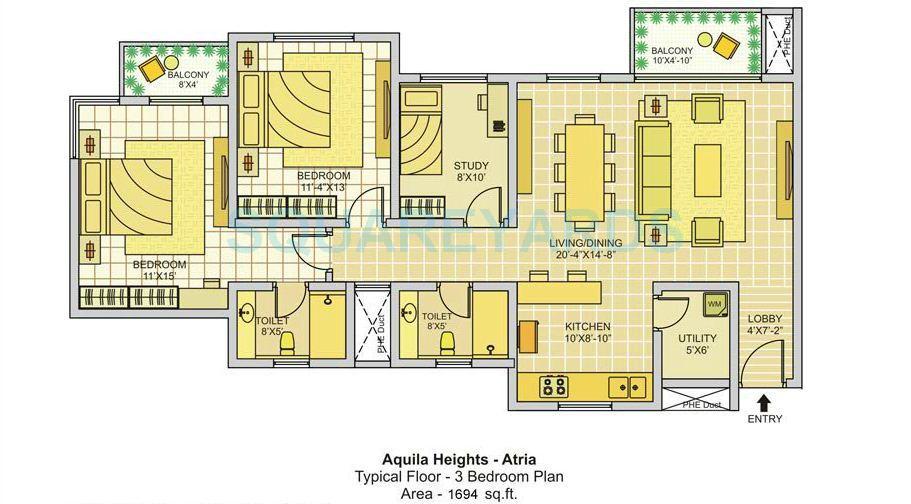 tata aquila heights apartment 2bhk 1694sqft1