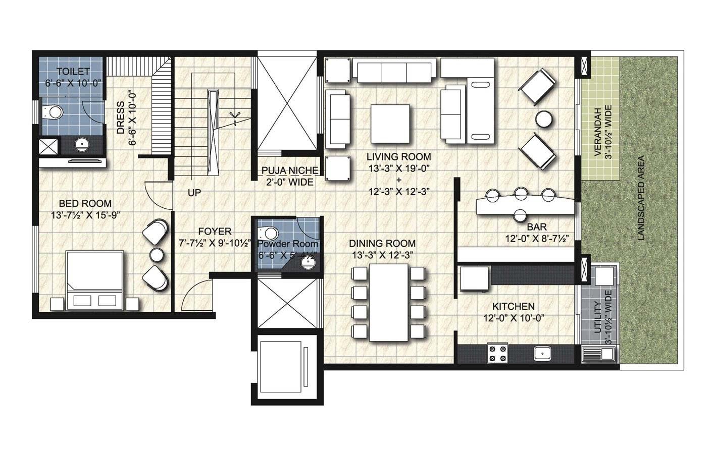unitech uniworld resort apartment 4bhk 3735sqft61