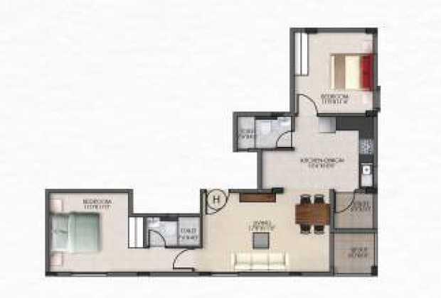 v and k northside apartment 2 bhk 1020sqft 20204028134014