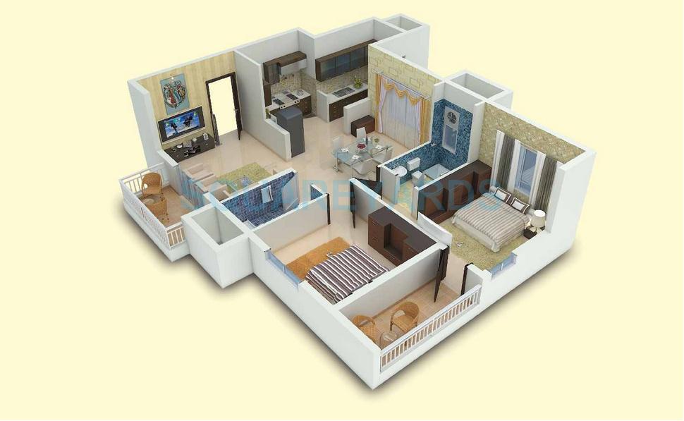 vaishnavi gardenia apartment 2bhk 1045sqft 1