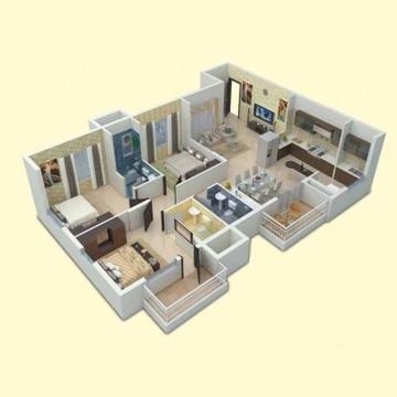 vaishnavi gardenia apartment 3bhk 1618sqft1