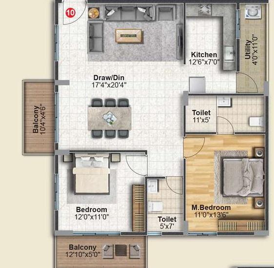 vaishno excellency apartment 2 bhk 1105sqft 20214015124058