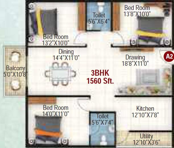 vaishno palash apartment 3 bhk 1560sqft 20210411130421