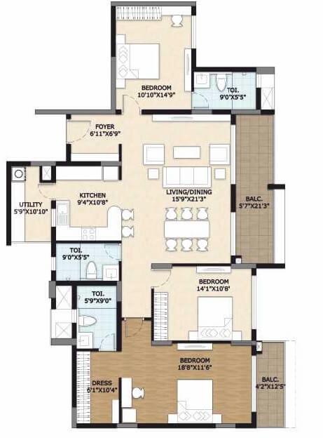 vajram esteva apartment 3bhk 2182sqft 1