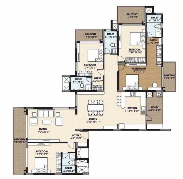 vajram esteva apartment 4bhk 3018sqft 1