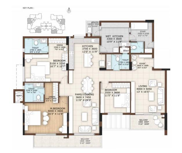 vajram tiara apartment 3bhk 2686sqft 61