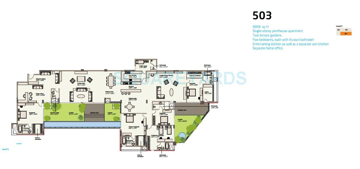 van goghs garden apartment 4bhk 8888sqft 1