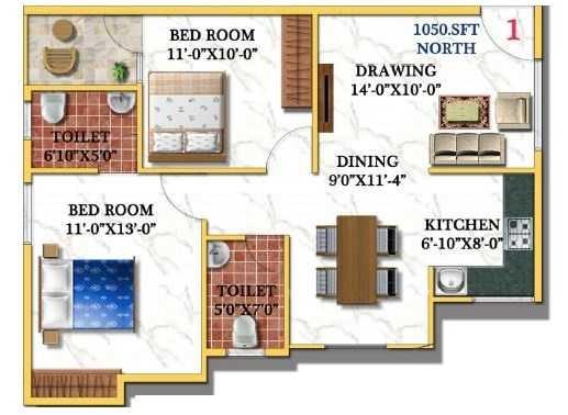vandhana paradise apartment 2bhk 1050sqft21