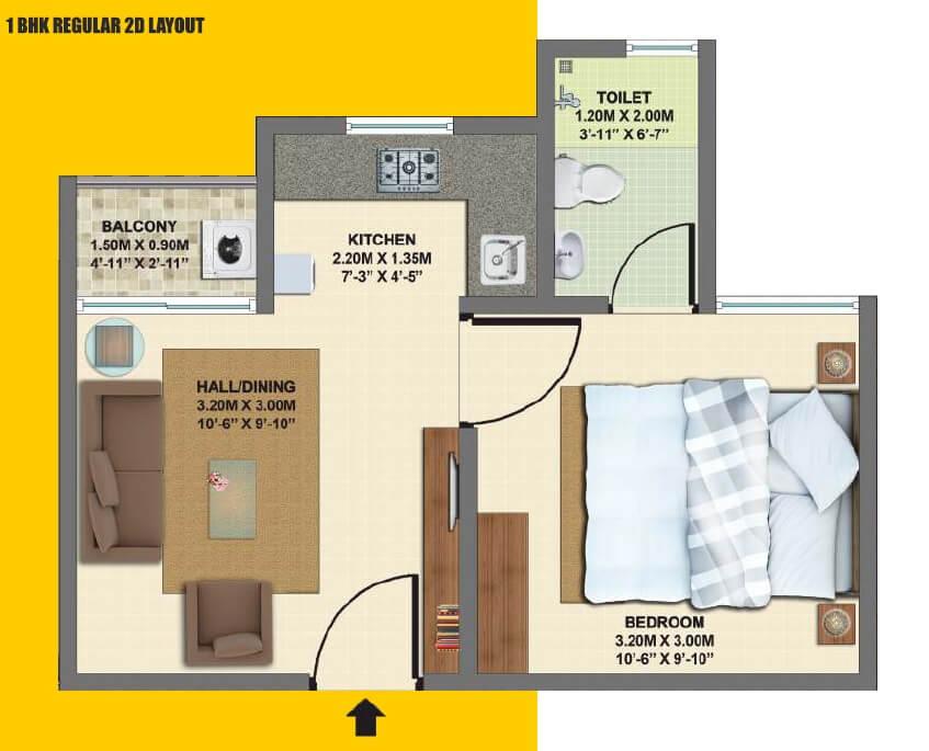 vbhc palm haven apartment 1bhk 416sqft 1