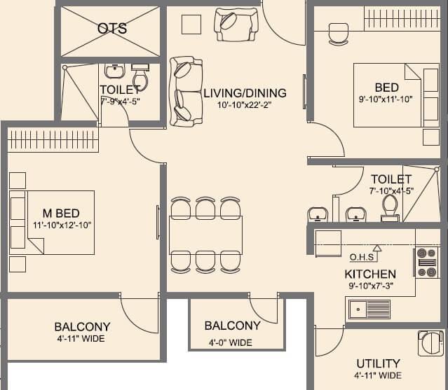 vmaks laurel apartment 2bhk 1155sqft 1