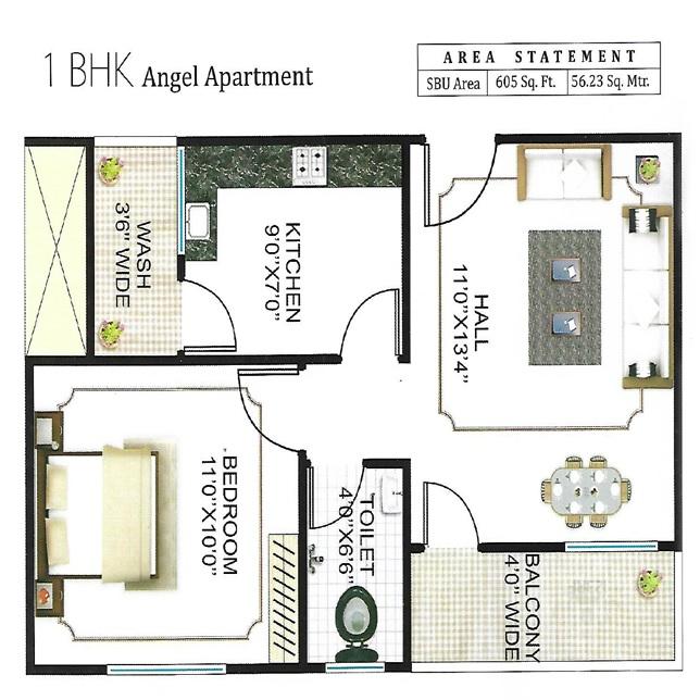 sheetal dham apartment 1 bhk 605sqft 20212214112231