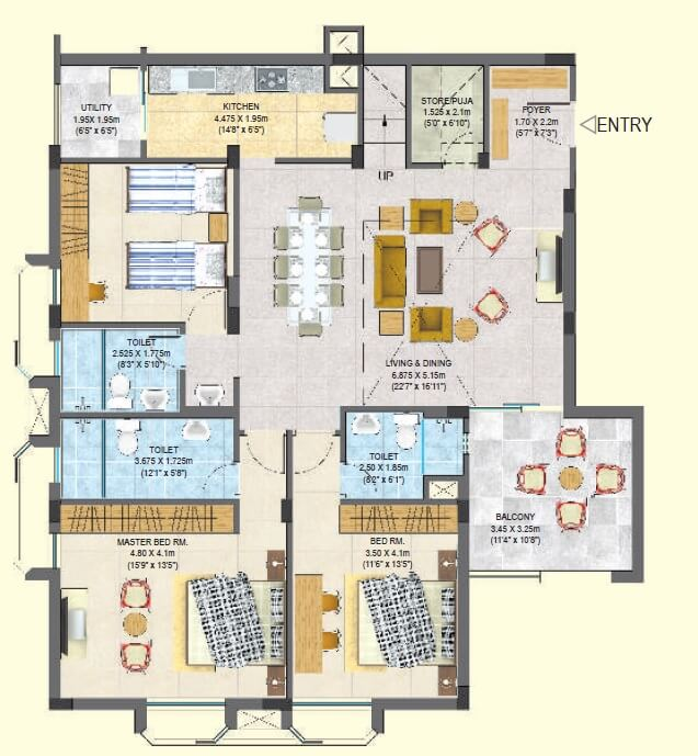 varsatile palm avenue phase ii apartment 3bhk 2232 sqft1