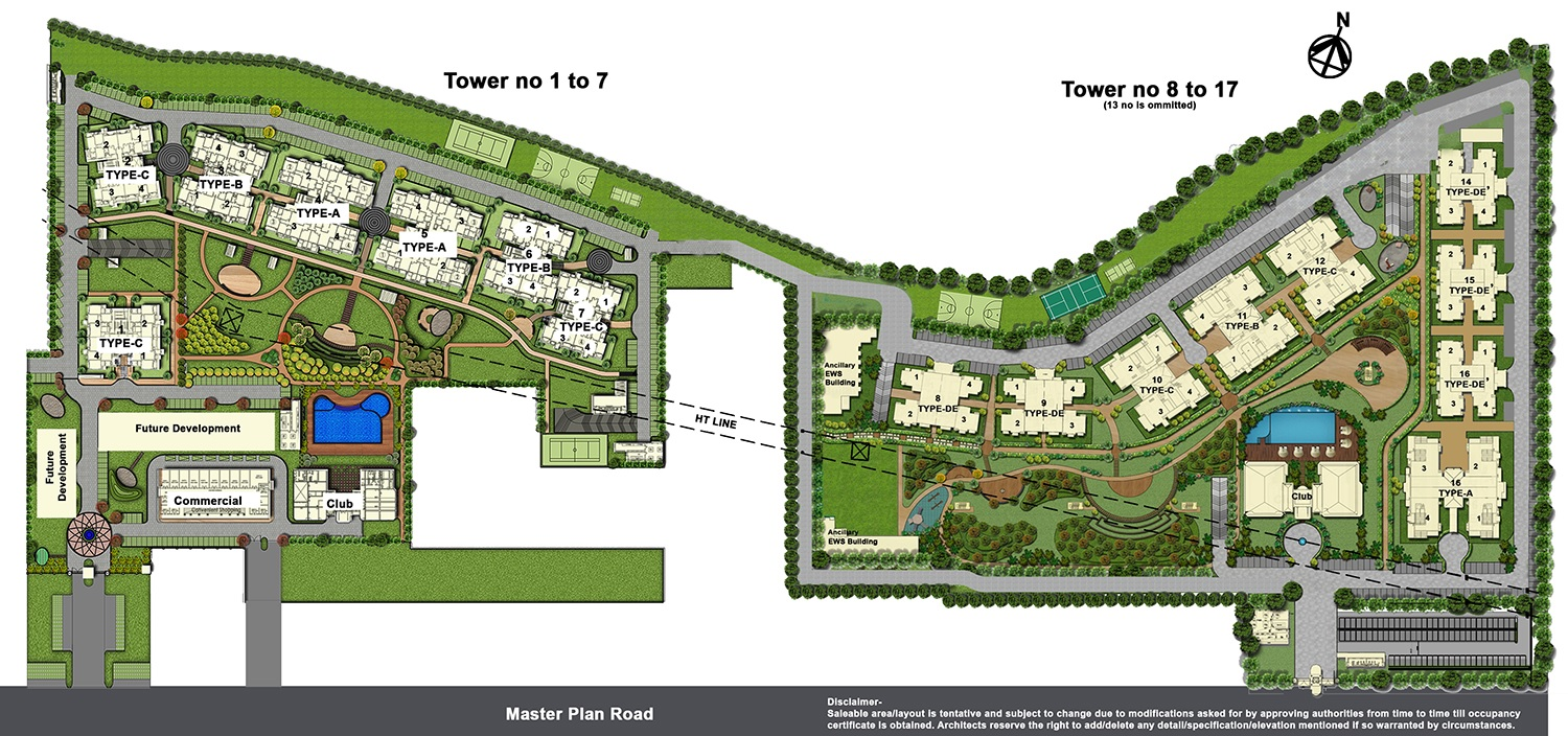 ats golf meadows lifestyle project master plan image1