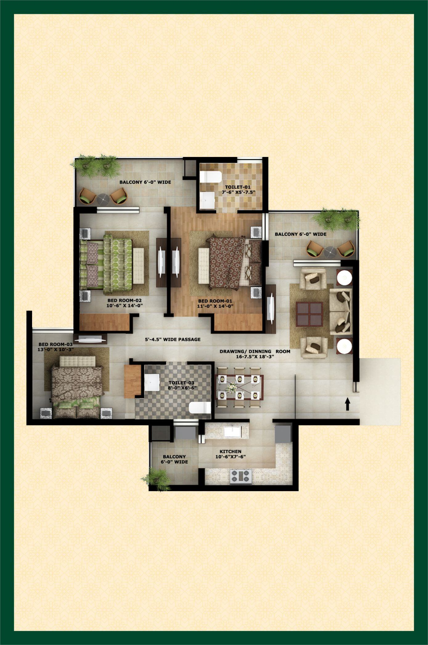 city of dreams apartment 3bhk 1534sqft 1