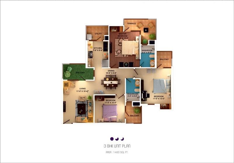 sushma crescent apartment 3 bhk 1485sqft 20201107131101