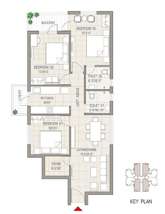 sushma joynest moh 1 apartment 3bhk 1355sqft 1