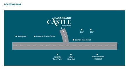 casagrand castle project location image1