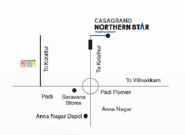 casagrand northern star location image1
